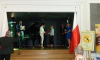 Odbieranie nagród przez Panią Beatę Przybylską właścicielkę Pracowni Rehabilitacji i Integracji Sensorycznej Bemarol, fot. ze zbiorów prywatnych Pani B. Przybylskiej