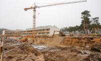 Budowa szpitala na Bielanach, fot. Mikołaj Kuras dla UMWKP