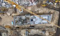Postępy na budowie szpitala na Bielanach, fot. Sky Drone Studio dla KPIM