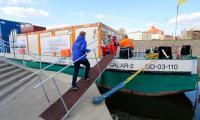 Pierwszym przystankiem barki w naszym regionie był Grudziądz, fot. Mikołaj Kuras