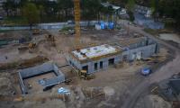 Budowa szpitala na Bielanach, fot. Sky Drone Studio dla KPIM
