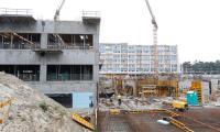 Budowa szpitala na Bielanach 21 lipca, fot. Mikołaj Kuras dla UMWKP
