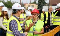 Wizyta członków Stowarzyszenia Architektów Polskich na budowie nowego kompleksu Wojewódzkiego Szpitala Zespolonego w Toruniu, fot. Mikołaj Kuras