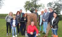 Goście z Włoch podczas wizyty w Kołudzie Wielkiej, fot. Waldemar Zieliński