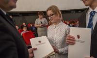 Uroczystość wręczenia stypendiów marszałka uczniom liceów i techników z regionu, fot. Szymon Zdiebło/Tarantoga.pl