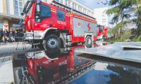 Uroczyste przekazanie samochodów ratowniczo-gaśniczych, zakupionych dzięki wsparciu z Regionalnego Programu Operacyjnego, fot. Łukasz Piecyk