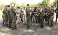 Grupa szkoleniowa przy stanowisku moździerzowym, fot. Roman Salach