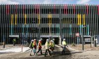 Zwiedzanie budowy nowego kompleksu Wojewódzkiego Szpitala Zespolonego w Toruniu, fot. Andrzej Goiński