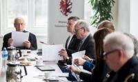 Posiedzenie prezydium komitetu budowy pomnika ofiar zbrodni pomorskiej, fot. Łukasz Piecyk dla UMWKP