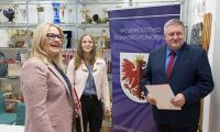 We Włocławku stypendia sportowe odebrali Andżelika Szymańska oraz Tomasz Budzyński, fot. Arkadiusz Gołębiewski