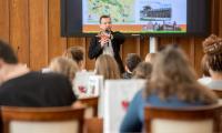Wizyta uczniów z Angers w Urzędzie Marszałkowskim, fot. Łukasz Piecyk