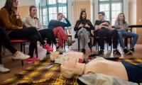 Zajęcia z udziałem uczniów z Angers w toruńskim Medyku, fot. Filip Kowalkowski