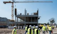 Zwiedzanie budowy szpitala na Bielanach 8 kwietnia 2018, fot. Łukasz Piecyk dla UMWKP