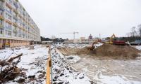 09.02.2017 Wykopy pod budynek główny szpitala, fot. Mikołaj Kuras