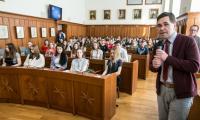 """Prelekcja """"Karol Wojtyła jako papież"""" w Urzędzie Marszałkowskim, fot. Andrzej Goiński"""