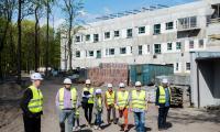 Niedziela na budowę na Bielanach, 22 kwietnia 2018, fot. Łukasz Piecyk dla UMWKP
