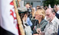 Obchody 100-lecia odzyskania przez Polskę niepodległości przed Urzędem Marszałkowskim w Toruniu, fot. Łukasz Piecyk