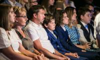 """Spotkanie z najmłodszymi stypendystami projektu """"Prymus Pomorza i Kujaw"""" w Teatrze Horzycy w Toruniu, fot. Andrzej Goiński"""