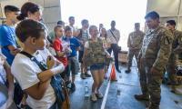 Spotkanie młodzieży z żołnierzami z USA na toruńskim poligonie, fot. Szymon Zdziebło/Tarantoga.pl