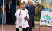 Uroczystość otwarcia ronda w Więcborku, fot. Filip Kowalkowski dla UMWKP