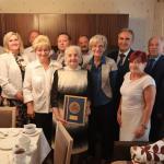 Przewodniczący sejmiku Ryszard Bober odwiedził Bronisławę Przeracką w dniu jej setnych urodzin, fot. Andrzej Goiński