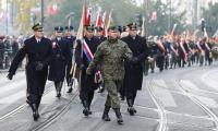 Bydgoszcz: przemarsz pod pomnik Wolności, fot. Roman Bosacki dla UMWKP