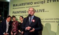 """Wernisaż wystawy """"Malarstwo wciąż żywe"""" w Centrum Sztuki Współczesnej w Toruniu, fot. Łukasz Piecyk"""