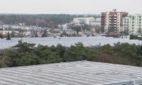 Szpital na Bielanach – trwają prace wewnątrz budynków, fot. Łukasz Piecyk dla UMWKP