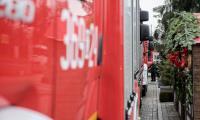 Uroczyste przekazanie samochodów strażackich OSP przed Urzędem Marszałkowskim w Toruniu, fot. Łukasz Piecyk