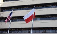 Odnaleźliśmy w Filadelfii  dumnie powiewającą polską flagę