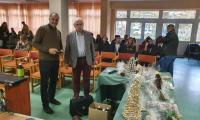 Prelekcja w Zespole Szkól w Bielicach. Na zdjęciu Stanisław Kolbusz (z prawej) i Marek Brunka (z lewej)