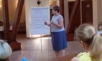 """Szkolenie """"Kompetentny zespół"""", Popowo, 3-5.06.2019 r., fot. Biuro Wsparcia Rodziny i Przeciwdziałania Przemocy"""