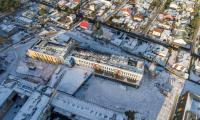 Budowa Wojewódzkiego Szpitala Zespolonego w Toruniu, styczeń 2019, fot. Sky Drone Studio dla KPIM