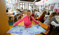 Zajęcia plastyczne w Galerii i Ośrodku Plastycznej Twórczości Dziecka w Toruniu, fot. Mikołaj Kuras