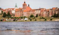 Zespół zabytkowych spichlerzy wraz z panoramą od strony Wisły, fot. Andrzej Goiński