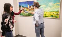 Wystawa prac malarskich Jerzego Stachury w Urzędzie Marszałkowskim, fot. Andrzej Goiński