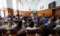 W Urzędzie Marszałkowskim młodzi Szkoci spotkali się z licealistami z Torunia, fot. Mikołaj Kuras
