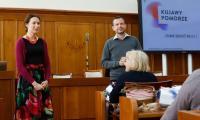 Wizyta francuskiego chóru Aeolia w Urzędzie Marszałkowskim, fot. Mikołaj Kuras dla UMWKP