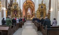 Uroczysta msza św. w toruńskiej Katedrze w setną rocznicę urodzin św. Jana Pawła II , fot. Szymon Zdziebło/tarantoga.pl dla UMWKP