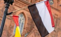 Flagi na Święto Województwa we Włocławku, fot. Szymon Zdziebło tarantoga.pl/UMWKP