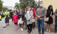 Uroczystość wmurowania aktu erekcyjnego w Korczaku, fot. Mikołaj Kuras dla UMWKP
