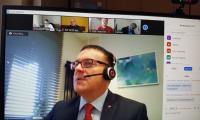 Pan dr Krzysztof Matela - Przewodniczący  K-P WRDS - zdalne posiedzenie Prezydium