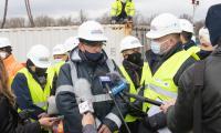 Konferencja prasowa na nabrzeżu wiślanym w Chełmnie, fot. Mikołaj Kuras dla UMWKP