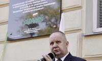 Odsłonięcie tablicy pamiątkowej w Inowrocławiu, fot. Andrzej Goiński UMWKP