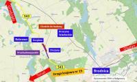Mapa inwestycji, graf. ZDW w Bydgoszczy
