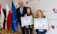 Spotkanie marszałka z laureatką i finalistą MasterChef Junior, fot. Mikołaj Kuras dla UMWKP