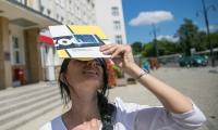 Obserwacja częściowego zaćmienia Słońca, fot. Andrzej Goiński/UMWKP