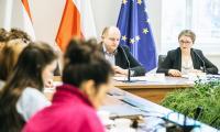 09.01.2018, Konferencja na temat VIII Marszałkowskiego Balu Dobroczynnego, który obędzie się 20 stycznia w CKK Jordanki, fot. Andrzej Goiński