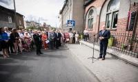 Uroczystość odsłonięci i poświęcenia tablicy pamięci Antoniego Łapczyńskiego w Chełmży, fot. Andrzej Goiński