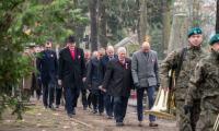 Uroczystość na toruńskim cmentarzu komunalnym, fot. Łukasz Piecyk